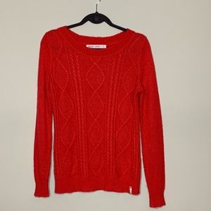 Woolrich l Red Cable Knit Sweater